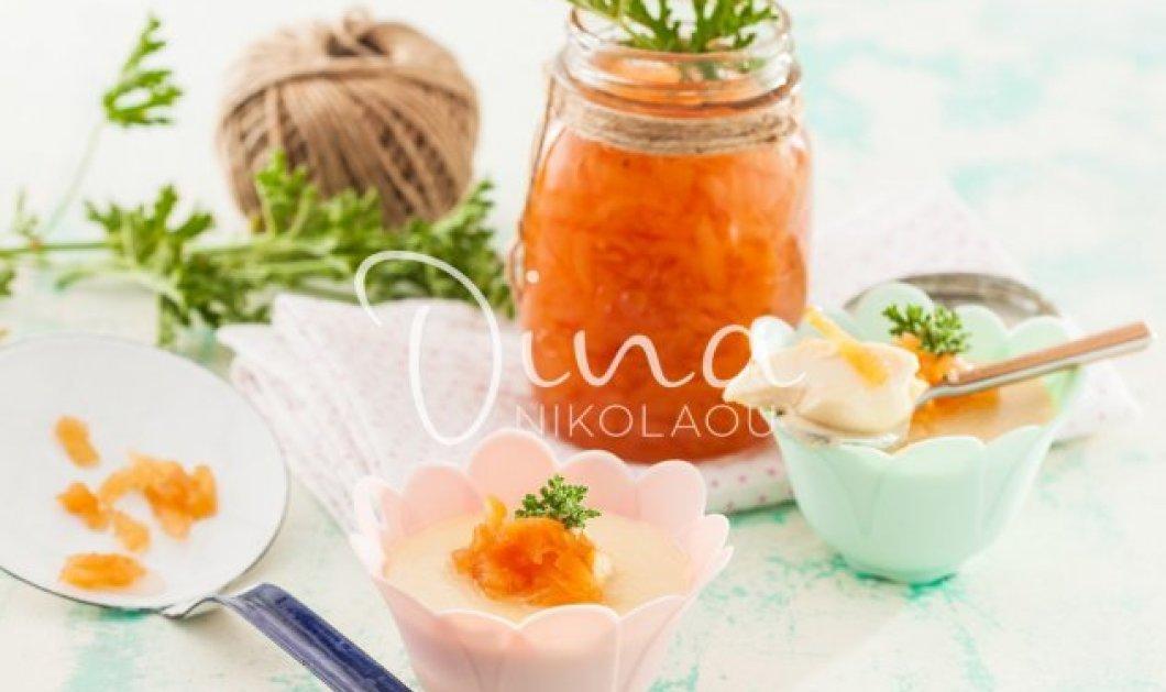 Πανακότα γιαουρτιού με γλυκό του κουταλιού κυδώνι από την φανταστική Ντίνα Νικολάου - Κυρίως Φωτογραφία - Gallery - Video