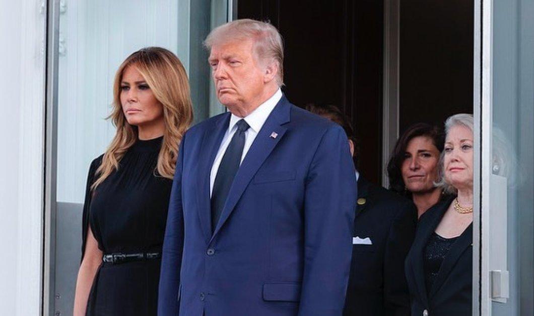 Φωτό & βίντεο από την κηδεία του αδελφού του Trump στον Λευκό Οίκο: Στα μαύρα η Melania, συντετριμμένος ο Πρόεδρος των ΗΠΑ  - Κυρίως Φωτογραφία - Gallery - Video