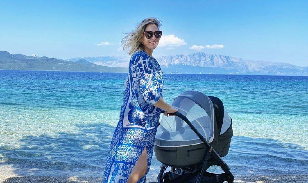 Τρισευτυχισμένη μανούλα: Η Ανίτα Μπραντ σε παραλία της Λευκάδας με τον νεογέννητο γιο της! (Φωτό)  - Κυρίως Φωτογραφία - Gallery - Video