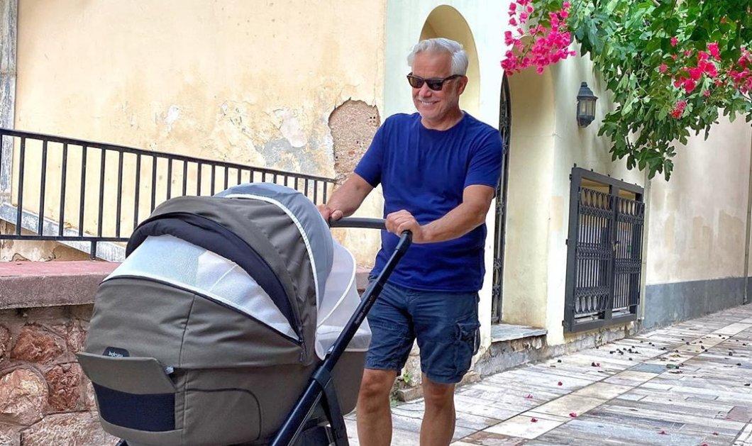 Ο Χάρης Χριστόπουλος μπαμπάς με καροτσάκι: Η σειρά του σήμερα να κάνει βόλτα το μωρό (Φωτό)  - Κυρίως Φωτογραφία - Gallery - Video