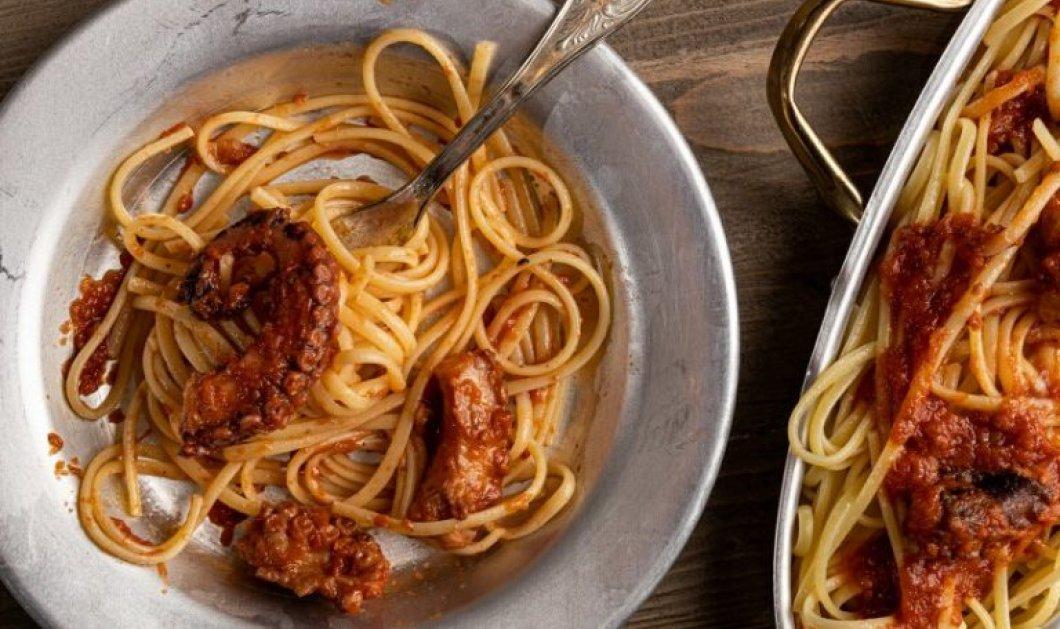 Μακαρόνια µε χταπόδι - Υπέροχη καλοκαιρινή συνταγή από την Αργυρώ Μπαρμπαρίγου - Κυρίως Φωτογραφία - Gallery - Video
