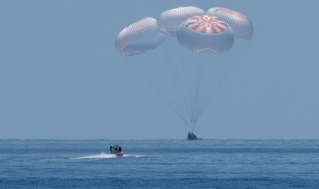 Προσθαλασσώθηκε με επιτυχία η κάψουλα της Space X μετά από 2 μήνες στο Διάστημα- Εντυπωσιακές εικόνες & βίντεο - Κυρίως Φωτογραφία - Gallery - Video