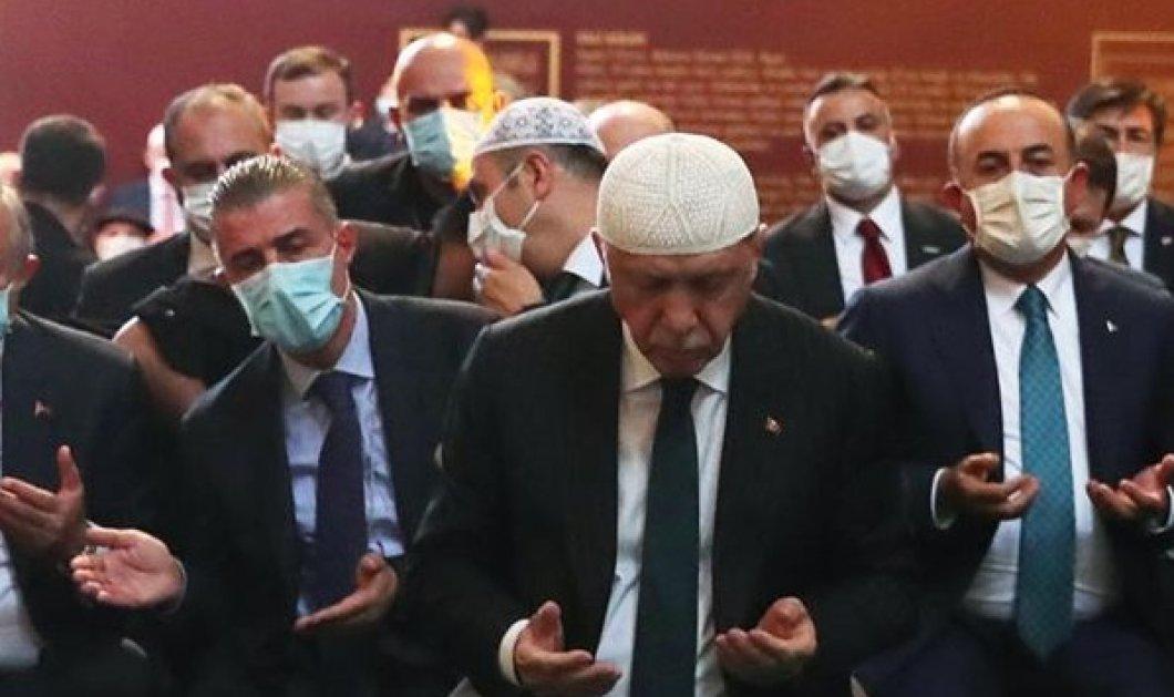 """Κορωνοϊός - Τουρκία: 3.000 πιστοί μολύνθηκαν στην """"προσευχή"""" - θέαμα του Ερντογάν στην Αγία Σοφία (βίντεο) - Κυρίως Φωτογραφία - Gallery - Video"""