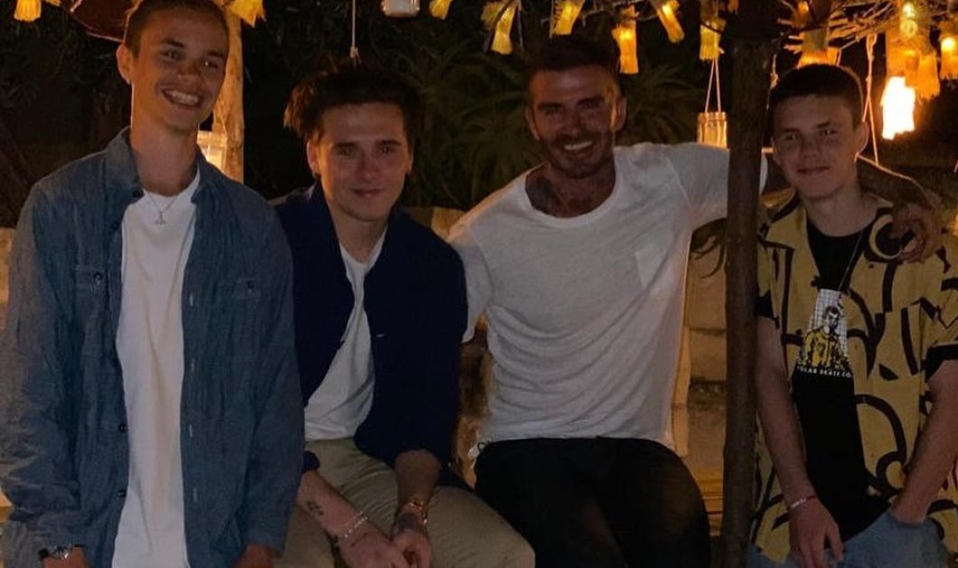 O David Beckham κάνει διακοπές στην Ελλάδα με τους γιους του Romeo, Brooklyn, Cruz - Και οι αρραβωνιαστικιές τους; (φωτό) - Κυρίως Φωτογραφία - Gallery - Video