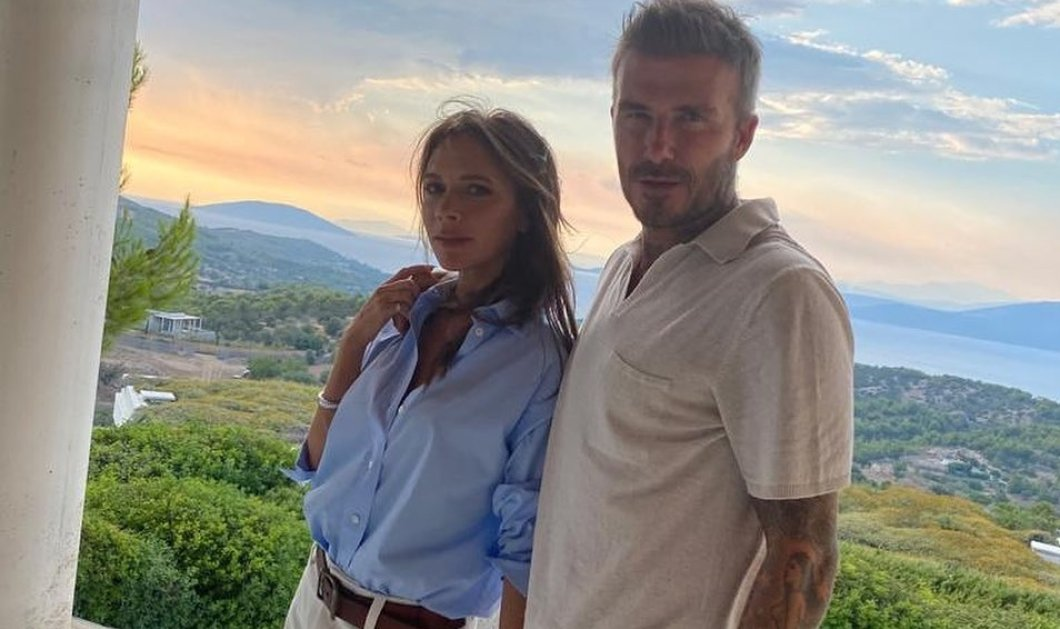 "Mε γονείς & πεθερικά οι αδημοσίευτες φωτό από τις διακοπές των Beckham στην Ελλάδα - Το ""καυτό"" σορτς της Victoria όλα τα λεφτά - Κυρίως Φωτογραφία - Gallery - Video"