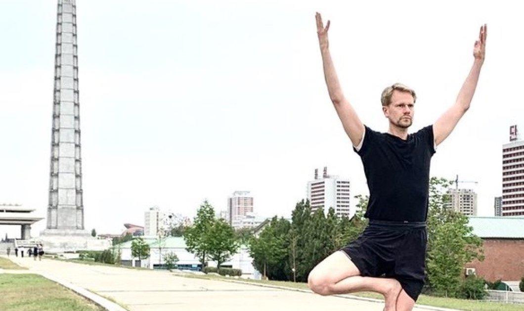 Αυτός είναι πρέσβης! Ο Σουηδός διπλωμάτης Joachim Bergström εντυπωσιάζει με όλες τις στάσεις yoga μπροστά σε εμβληματικά κτίρια της Πιονγιάνγκ (φωτό) - Κυρίως Φωτογραφία - Gallery - Video