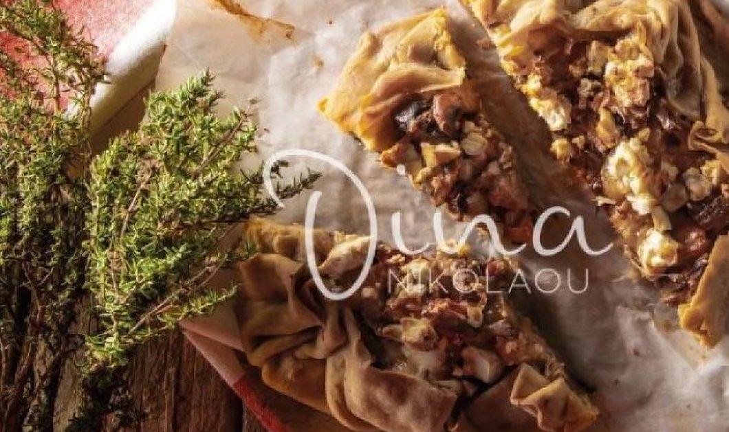 Ντίνα Νικολάου: Μας φτιάχνει λαχταριστή πίτα με πετιμεζάτα κρεμμύδια, μανιτάρια και κεφαλοτύρι - Κυρίως Φωτογραφία - Gallery - Video