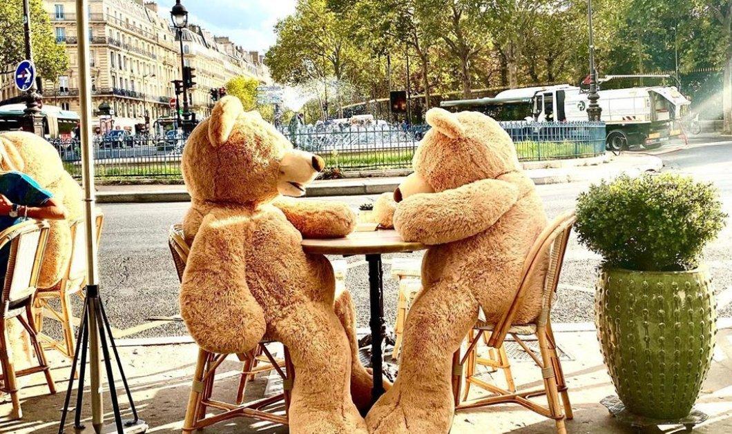 Απίθανη ιδέα: Τα καφέ στο Παρίσι βάζουν δύο αρκουδάκια αντικριστά στα τραπεζάκια - Έτσι τηρούν τις αποστάσεις λόγω κορωνοϊού (φωτό) - Κυρίως Φωτογραφία - Gallery - Video