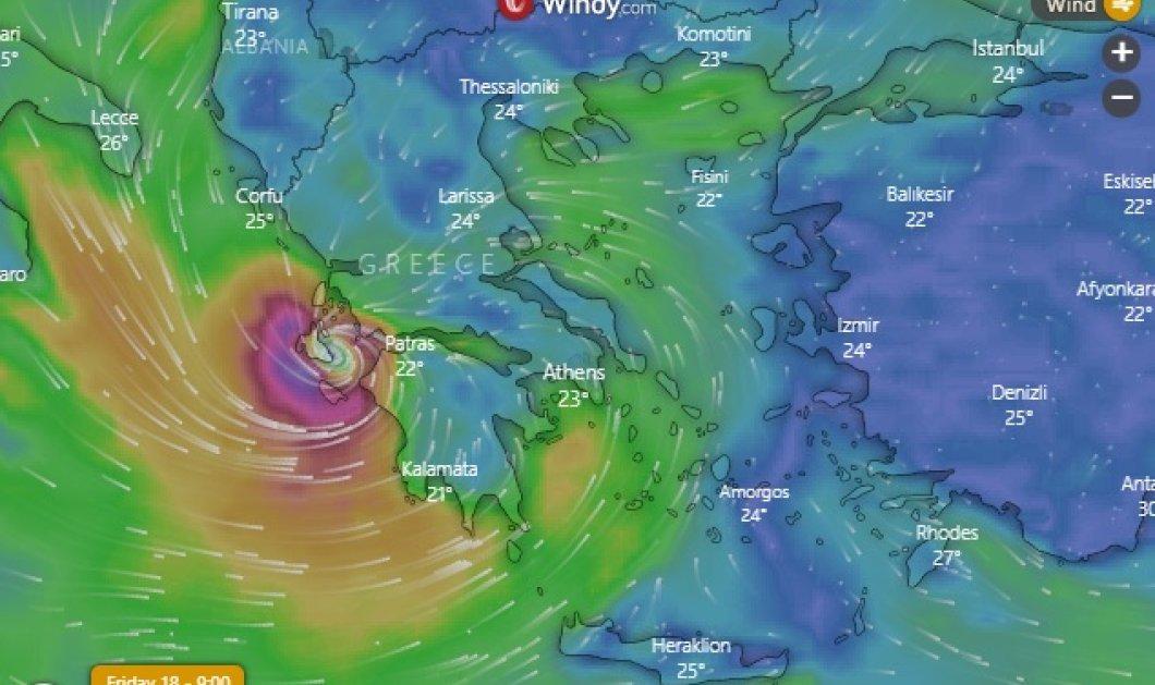 "Live η πορεία του «Ιανού» στη χώρα μας: Ποιες περιοχές θα ""χτυπήσει"" σήμερα - Ισχυρές βροχές & καταιγίδες, άνεμοι μέχρι & 10 μποφόρ (βίντεο) - Κυρίως Φωτογραφία - Gallery - Video"