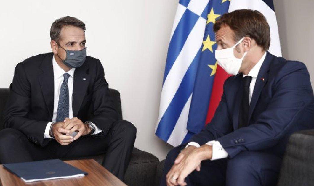 Ολοκληρώθηκε η συνάντηση Μητσοτάκη-Μακρόν στην Κορσική - Απόλυτη συμφωνία στις κυρώσεις κατά της Τουρκίας (φωτό & βίντεο) - Κυρίως Φωτογραφία - Gallery - Video
