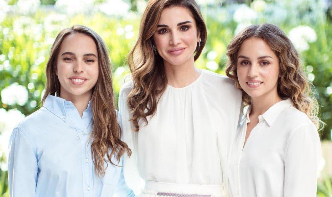 Ράνια της Ιορδανίας: Η αιθέρια βασίλισσα ποζάρει στα λευκά με τις κόρες της, πριγκίπισσες Iman & Salma - Tα γενέθλιά τους (φωτό) - Κυρίως Φωτογραφία - Gallery - Video