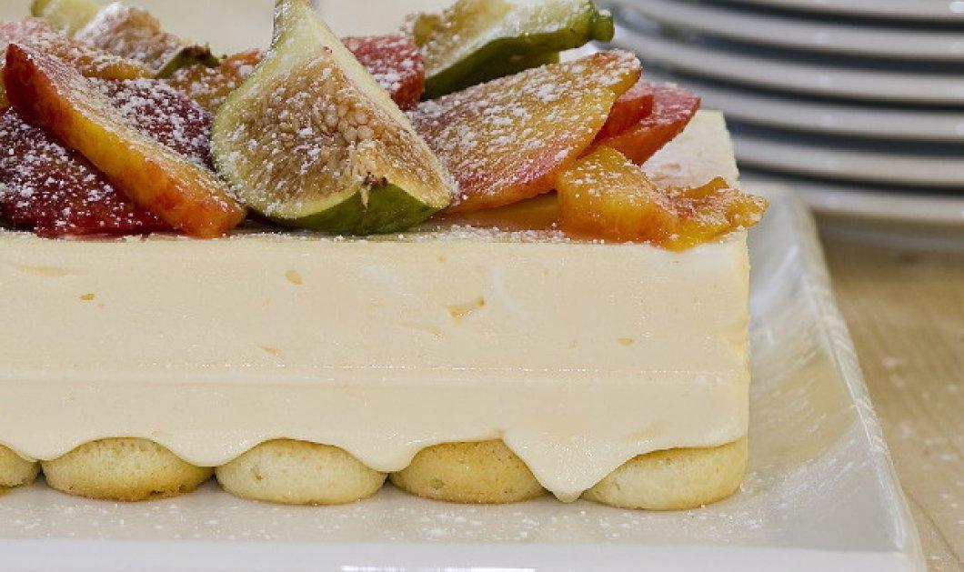 Ο Στέλιος Παρλιαρος μας φτιάχνει μία εντυπωσιακή τούρτα με σύκα & ροδάκινα - Κυρίως Φωτογραφία - Gallery - Video