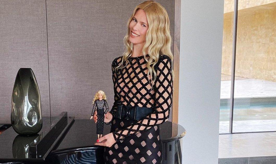 H Claudia Schiffer τώρα & σε Barbie- Το διάσημο supermodel γιόρτασε τα 50 της χρόνια & έγινε κούκλα με υπέροχα φορέματα Balmain & Versace (φωτό) - Κυρίως Φωτογραφία - Gallery - Video