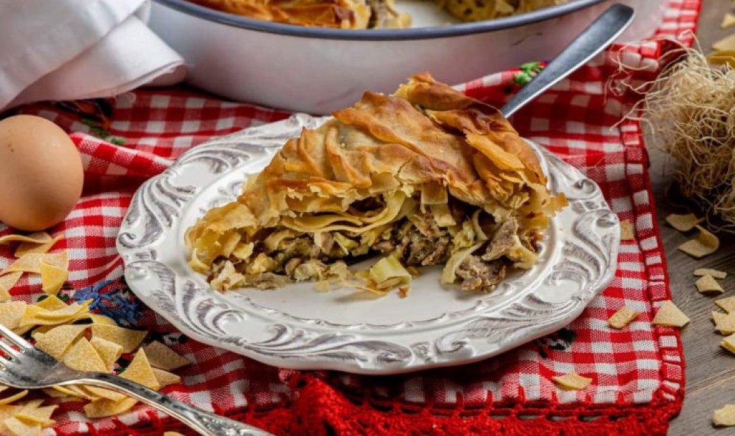 Η Αργυρώ Μπαρμπαρίγου μας δίνει τη συνταγή για κρεατόπιτα Κοζάνης ή Γκιζλεμόπιτα - Τα μυστικά για να γίνει τέλεια! - Κυρίως Φωτογραφία - Gallery - Video