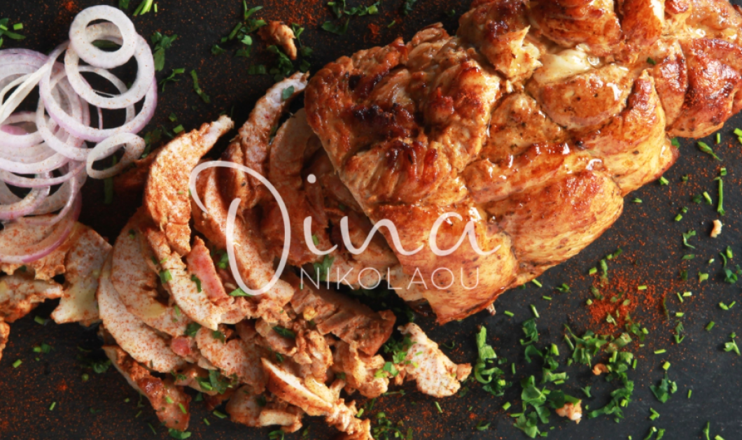 H Nτίνα Νικολάου δημιουργεί: Γύρο κοτόπουλο στο φούρνο με μπαχαρικά - Λιώνει στο στόμα  - Κυρίως Φωτογραφία - Gallery - Video