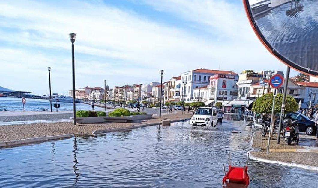 Σεισμός στην Σάμο: Το συγκλονιστικό βίντεο που δείχνει την θάλασσα να βγαίνει στην στεριά - Έμοιαζε με τσουνάμι, είπαν οι κάτοικοι   - Κυρίως Φωτογραφία - Gallery - Video