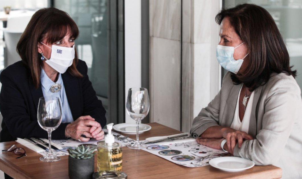 Topwomen meeting! Κατερίνα - Άννα τα λένε: Την εκλογή της Διαμαντοπούλου στον ΟΟΣΑ & η στήριξη της Προέδρου Σακελλαροπούλου (Φωτό)  - Κυρίως Φωτογραφία - Gallery - Video