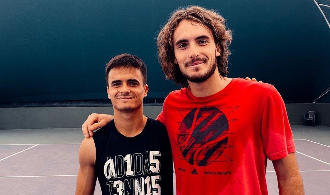 Τα αδέλφια Τσιτσιπά μαζί στα τερέν - Ο παγκόσμιος πρωταθλητής με τον 20χρονο Πέτρο (Φωτό)  - Κυρίως Φωτογραφία - Gallery - Video