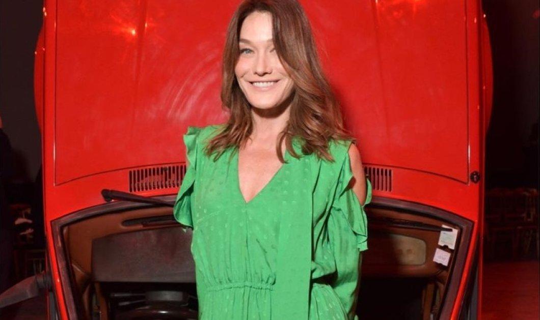 Το ωραιότερο πουλόβερ της σεζόν φόρεσε η Κάρλα Μπρούνι - Κασμίρ ζιβάγκο σε έντονο κυπαρισσί (φωτό) - Κυρίως Φωτογραφία - Gallery - Video
