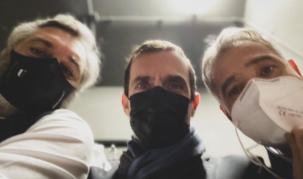 3 μάσκες & πίσω τους τρεις γοητευτικοί Έλληνες ηθοποιοί - Μαρκουλάκης, Κούρκουλος, Αθερίδης (φωτό) - Κυρίως Φωτογραφία - Gallery - Video
