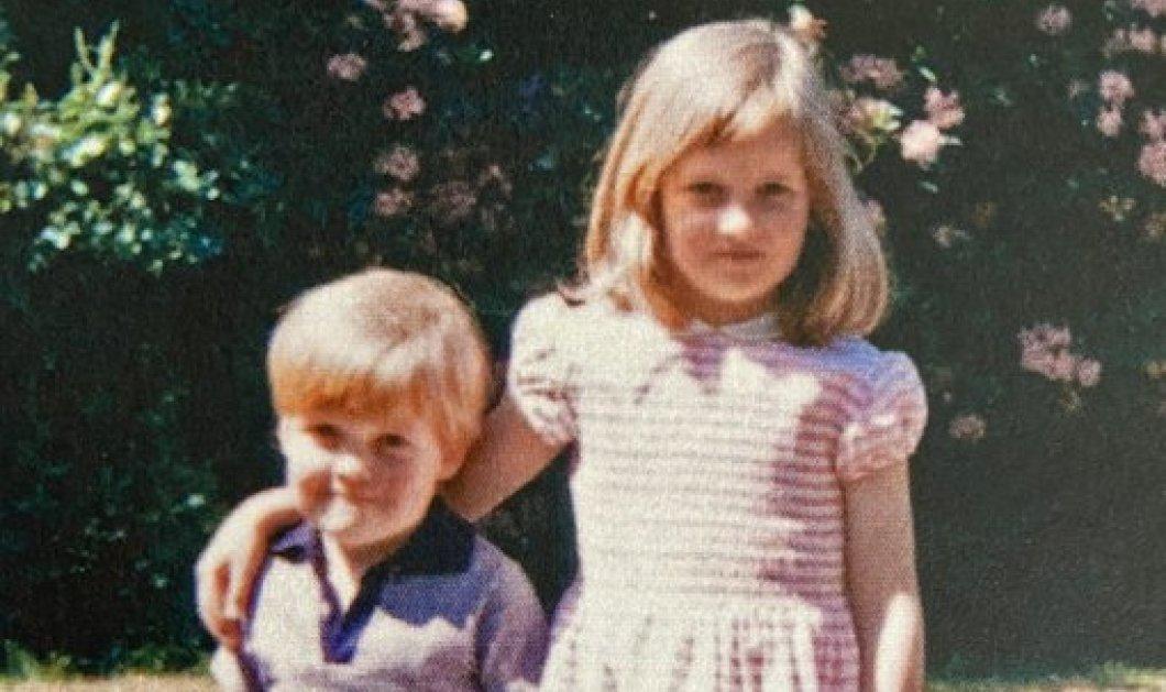 Μία σπάνια vintage φωτό με την Πριγκίπισσα Νταϊάνα & τον αδελφό της – Ξανθιά μικρούλα με ροζ ριγέ φόρεμα  - Κυρίως Φωτογραφία - Gallery - Video