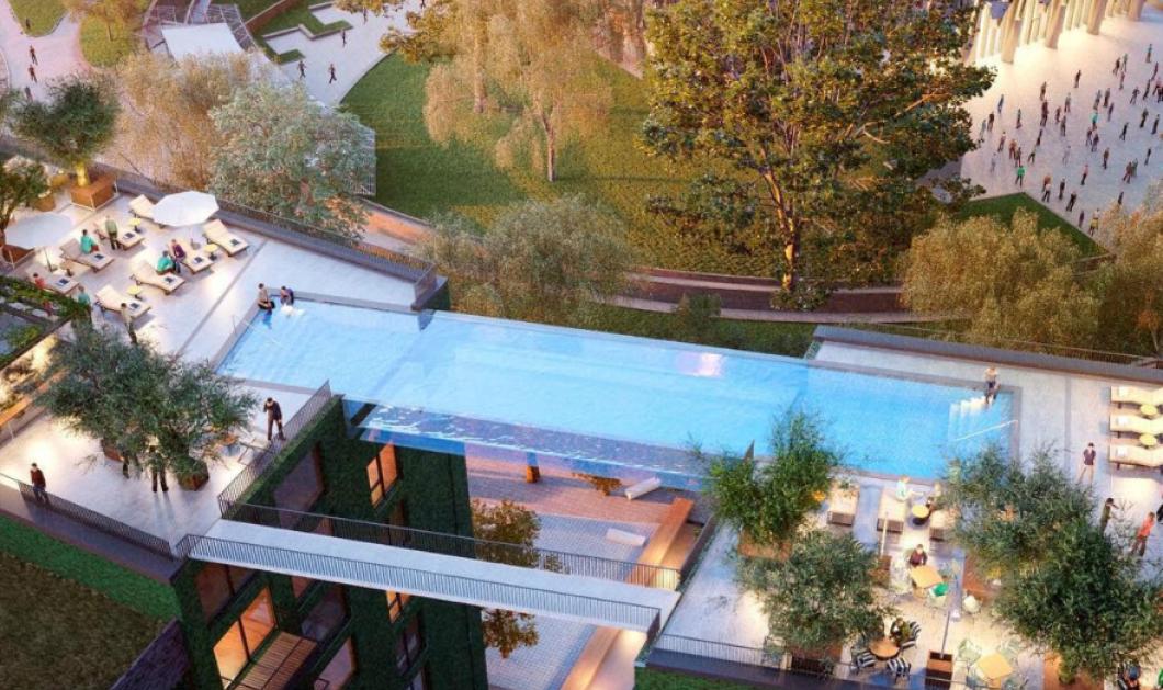 Sky pool: Τον γύρο του κόσμου κάνουν οι φωτό από μια πισίνα του Λονδίνου - Εντελώς διάφανη στα 35 μ.  - Ενώνει δύο κτίρια (φωτό) - Κυρίως Φωτογραφία - Gallery - Video