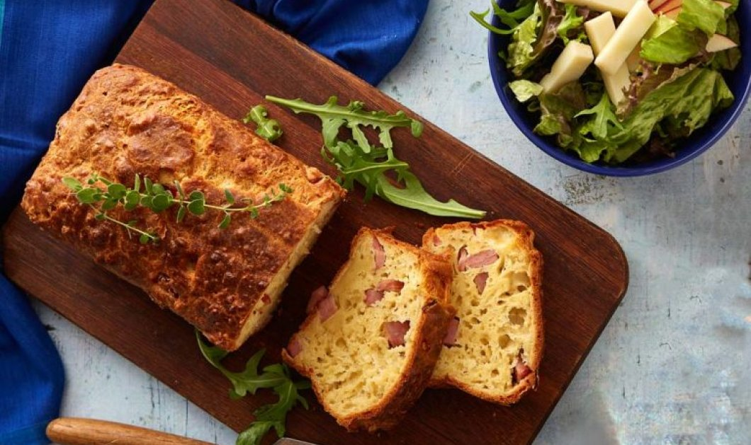 Η Αργυρώ Μπαρμπαρίγου ετοιμάζει λαχταριστό αλμυρό κέικ με τυρί και ζαμπόν - Εύκολο & γρήγορο - Κυρίως Φωτογραφία - Gallery - Video