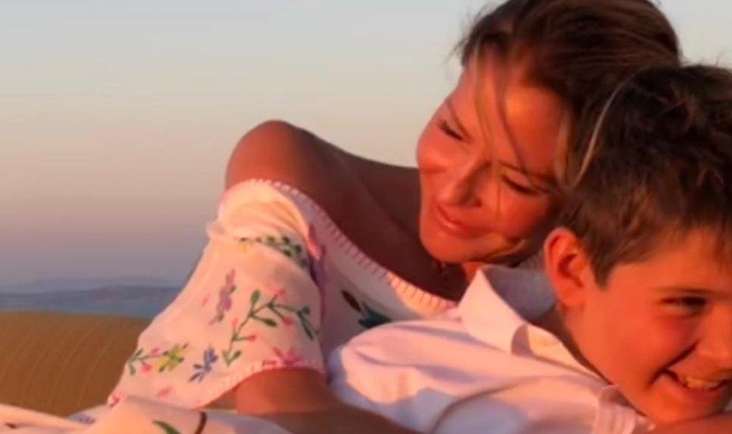 """""""Χρόνια πολλά μαμά"""" εύχεται ο Μάξιμος στην Τζένη Μπαλατσινού που έχει τα γενέθλιά της - Το σκίτσο που της έφτιαξε (φωτό) - Κυρίως Φωτογραφία - Gallery - Video"""