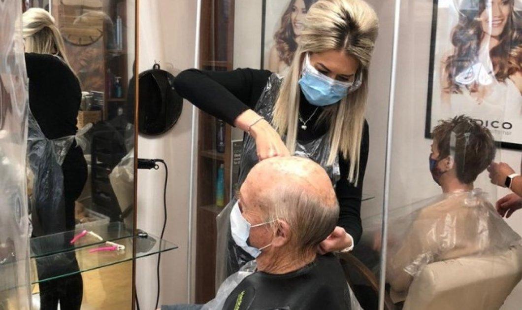 Η κομμώτρια του έσωσε τη ζωή: Εντόπισε καρκίνωμα στο πίσω μέρος του κεφαλιού του  την ώρα που τον κούρευε (Φωτό)  - Κυρίως Φωτογραφία - Gallery - Video
