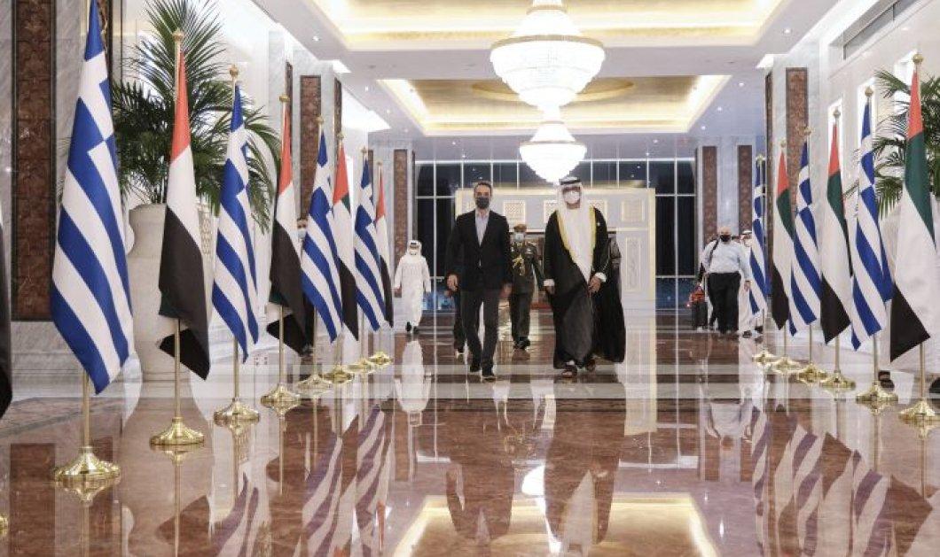 Οι φωτογραφίες και το glam από την Συνάντηση του Κυριάκου Μητσοτάκη με τον Πρίγκιπα Mohammed  - Μέσα στο παλάτι του Άμπου Ντάμπι (βίντεο)  - Κυρίως Φωτογραφία - Gallery - Video