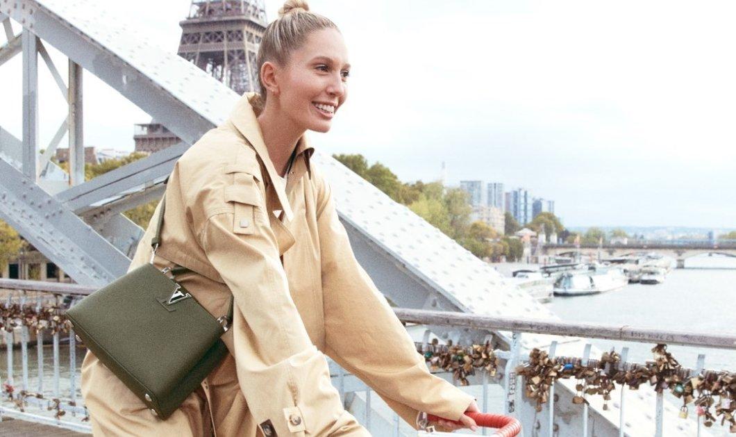 Η «δικιά μας» Μαρία Ολυμπία σε καμπάνια της Louis Vuitton: Πάνω σε ποδήλατο βολτάρει με υπέροχες τσάντες στο πανέμορφο Παρίσι (Φωτό & Βίντεο)  - Κυρίως Φωτογραφία - Gallery - Video