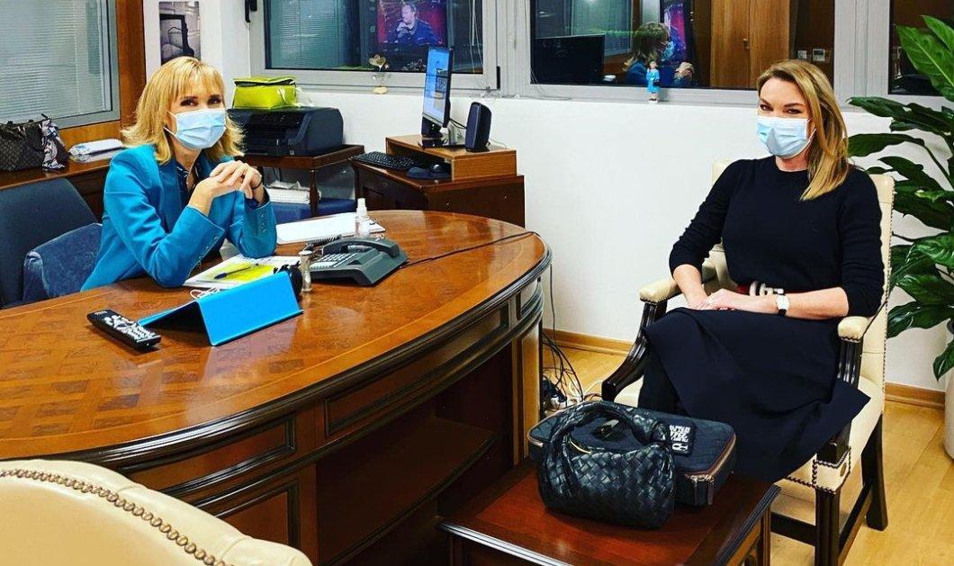 Μάρα Ζαχαρέα & Τατιάνα Στεφανίδου: Αλληλοϋποστηρίζονται σαν ladies της ελληνικής τηλεόρασης (Φωτό & Βίντεο)  - Κυρίως Φωτογραφία - Gallery - Video