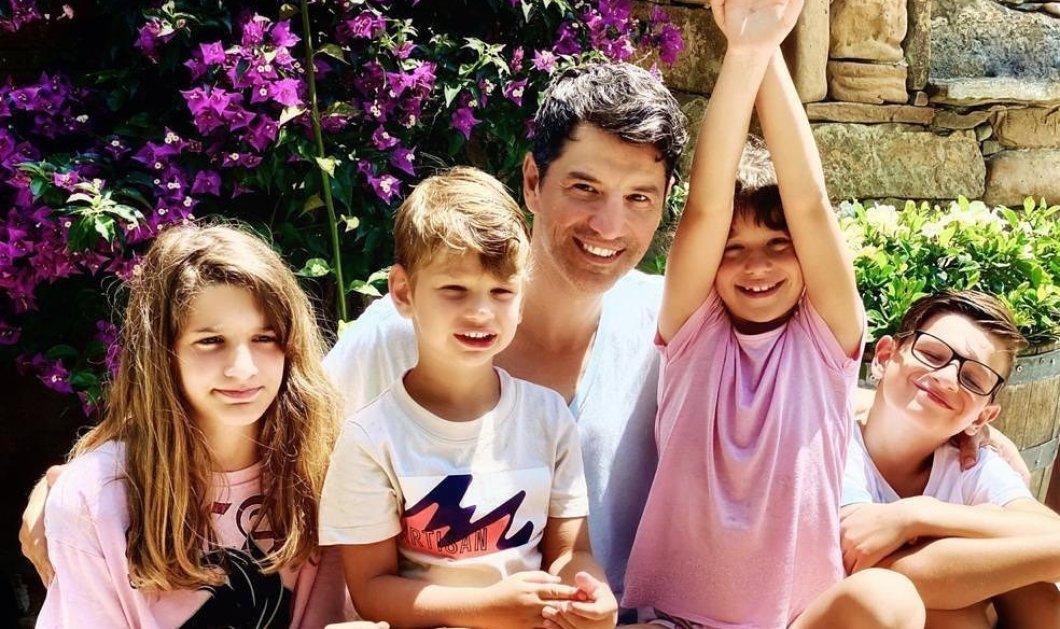 Ο καλύτερος μπαμπάς σε ένα υπέροχο βίντεο: Ο Σάκης Ρουβάς ζωγραφίζει με την Αναστασία, τον Αλέξανδρο & την Αριάδνη του - Κυρίως Φωτογραφία - Gallery - Video