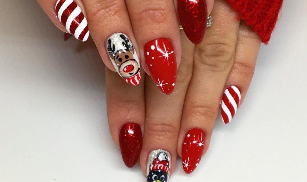 Χριστουγεννιάτικα μανικιούρ από όλο τον κόσμο- Φτιάξτε τα γιορτινά νύχια των ονείρων σας με επιμέλεια μέσα στην καραντίνα (φωτό) - Κυρίως Φωτογραφία - Gallery - Video