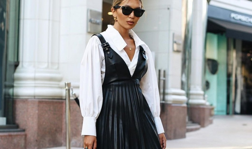 Δερμάτινο φόρεμα: 12 συνδυασμοί για να φορέσεις την τάση της σεζόν - Απογείωσε το ντύσιμο σου (Φωτό)  - Κυρίως Φωτογραφία - Gallery - Video