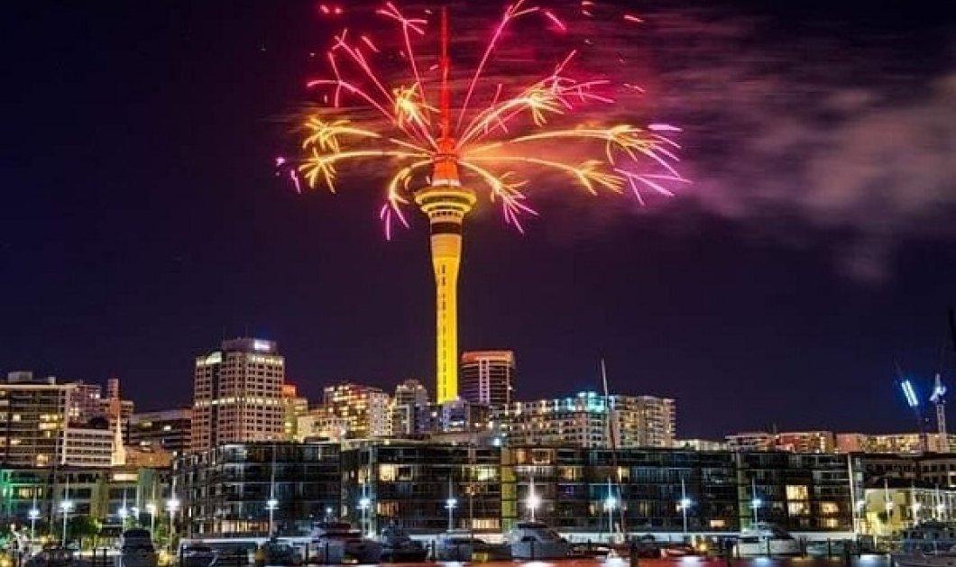 Καλή Χρονιά από τη Νέα Ζηλανδία: Το 2021 έφτασε εκεί με φαντασμαγορικά πυροτεχνήματα (φωτό & βίντεο)  - Κυρίως Φωτογραφία - Gallery - Video