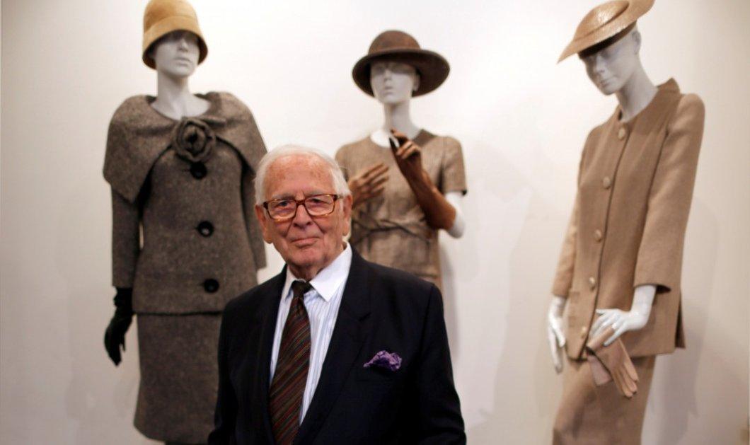 """""""Έφυγε"""" πλήρης ημερών ο κορυφαίος σχεδιαστής μόδας Pierre Cardin- H Γαλλία αποχαιρετά έναν μεγάλο άνδρα του πολιτισμού της (φωτό) - Κυρίως Φωτογραφία - Gallery - Video"""