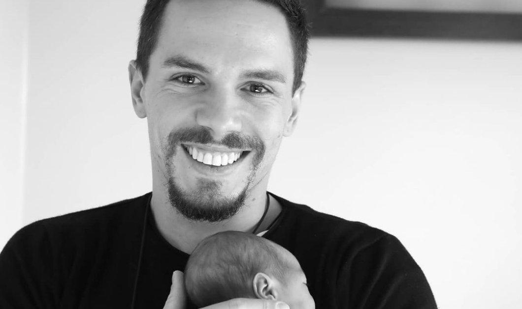 """""""Χαζομπαμπάς"""" ο Λευτέρης Πετρούνιας - Ποζάρει αγκαλιά με τη νεογέννητη κόρη (Φωτό)  - Κυρίως Φωτογραφία - Gallery - Video"""