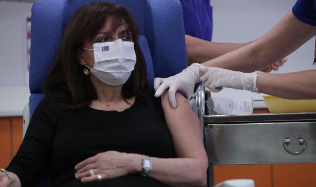 Κορωνοϊός - Ιστορική στιγμή: Εμβολιάστηκε η ΠτΔ  Κατερίνα Σακελλαροπούλου - ''Το μεγαλύτερο δώρο μάς το έκανε η επιστήμη'' (φωτό - βίντεο) - Κυρίως Φωτογραφία - Gallery - Video