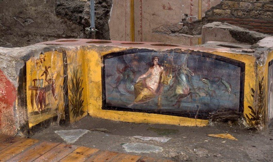 """Ιστορική ανακάλυψη στην Πομπηία: Άθικτο """"street food κυλικείο """" κάτω από τις στάχτες - Το """"βρώμικο"""" με τα εκλεκτά εδέσματα (φωτό & βίντεο) - Κυρίως Φωτογραφία - Gallery - Video"""
