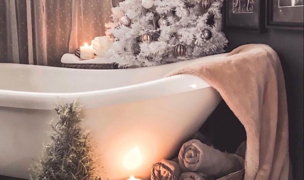 Ποιος είπε ότι δεν μπορούμε να διακοσμήσουμε το μπάνιο μας για τα Χριστούγεννα; - σας έχουμε εκπληκτικές ιδέες (φωτό) - Κυρίως Φωτογραφία - Gallery - Video