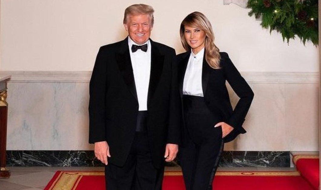 Με σμόκιν ο Πλανητάρχης, με tuxedo η Melania Trump- Αποχαιρετούν τον Λευκό Οίκο σε στυλ Hollywood (φωτό) - Κυρίως Φωτογραφία - Gallery - Video