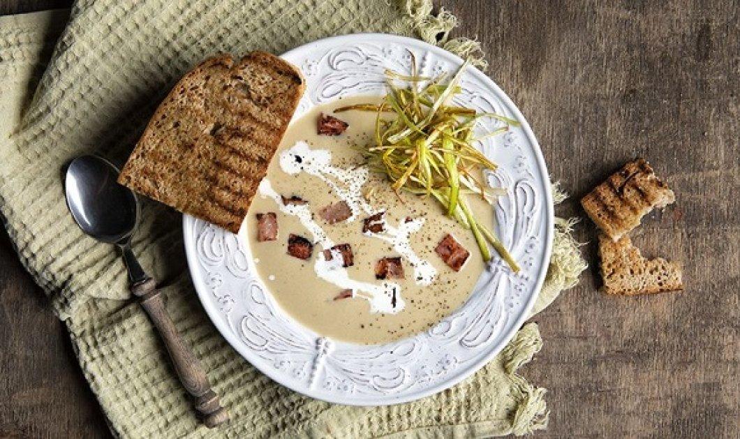 Άκης Πετρετζίκης: Βελουτέ σούπα με πράσο και πατάτα - Το ιδανικό πρώτο πιάτο για το  γιορτινό τραπέζι (βίντεο) - Κυρίως Φωτογραφία - Gallery - Video