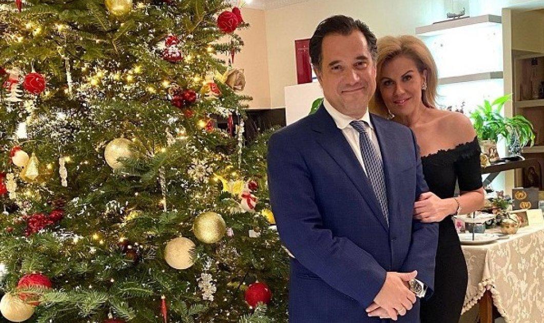 Ο Άδωνις Γεωργιάδης και η Ευγενία Μανωλίδου αγκαλιά με τα 4 παιδιά τους: Καλή Χρονιά! (φωτό) - Κυρίως Φωτογραφία - Gallery - Video