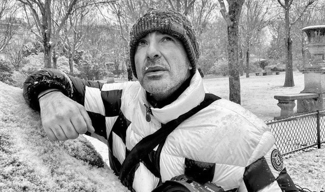Ο Νίκος Αλιάγας φωτογραφίζεται και φωτογραφίζει το χιονισμένο Παρίσι: «Λίγη ελαφρότητα...» (φωτό) - Κυρίως Φωτογραφία - Gallery - Video
