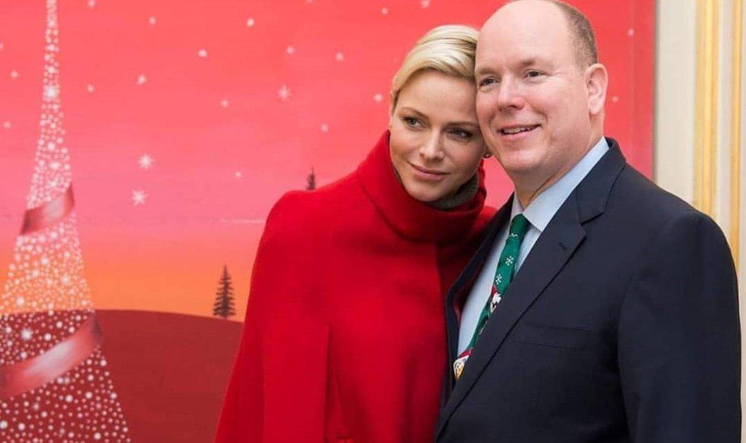 """Ο πρίγκιπας Αλβέρτος με την ωραία Charlene μας εύχονται """"Bonne Année""""- Το λευκό Prada πουκάμισο, το σκουλαρίκι & το ξυρισμένο κεφάλι (φωτό-βίντεο) - Κυρίως Φωτογραφία - Gallery - Video"""