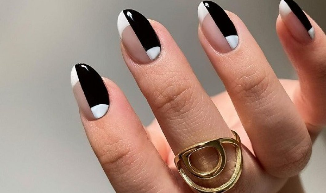 """10 εκπληκτικές ιδέες για black & white νύχια: Πέτυχε το απόλυτο μανικιούρ με το """"βασιλικό"""" δίδυμο των χρωμάτων (φωτό) - Κυρίως Φωτογραφία - Gallery - Video"""