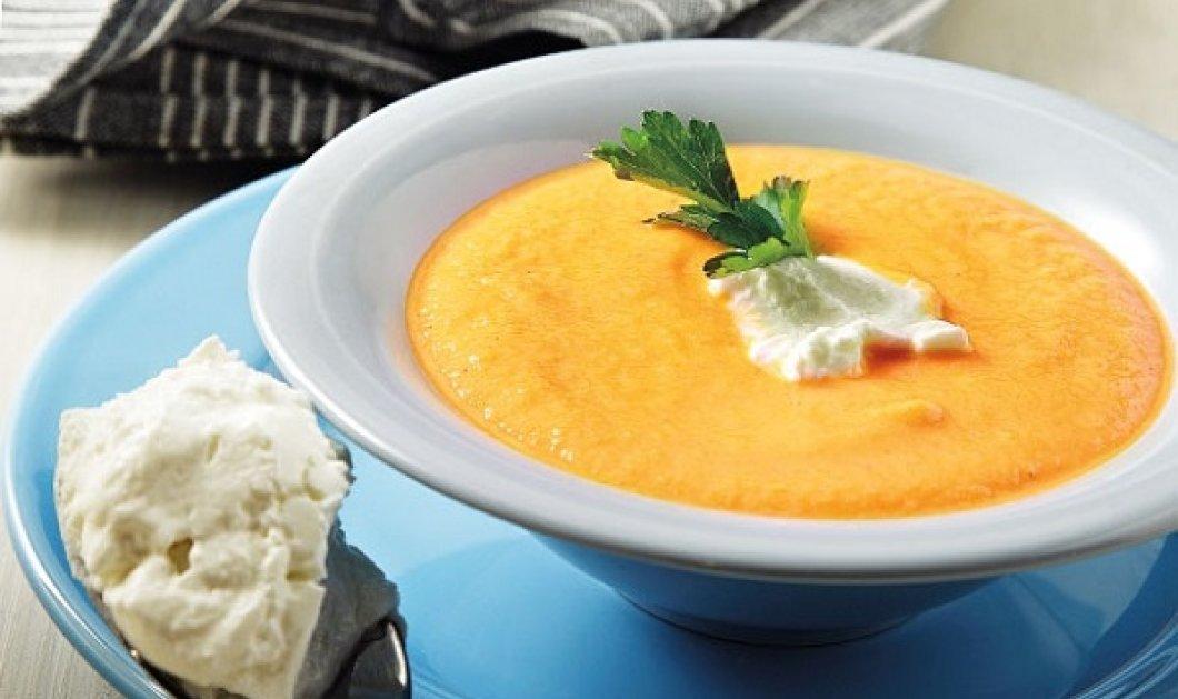 Η Αργυρώ Μπαρμπαρίγου μας έχει το καλύτερο πιάτο για τις κρύες ημέρες: Καροτόσουπα βελουτέ με πράσα - Κυρίως Φωτογραφία - Gallery - Video
