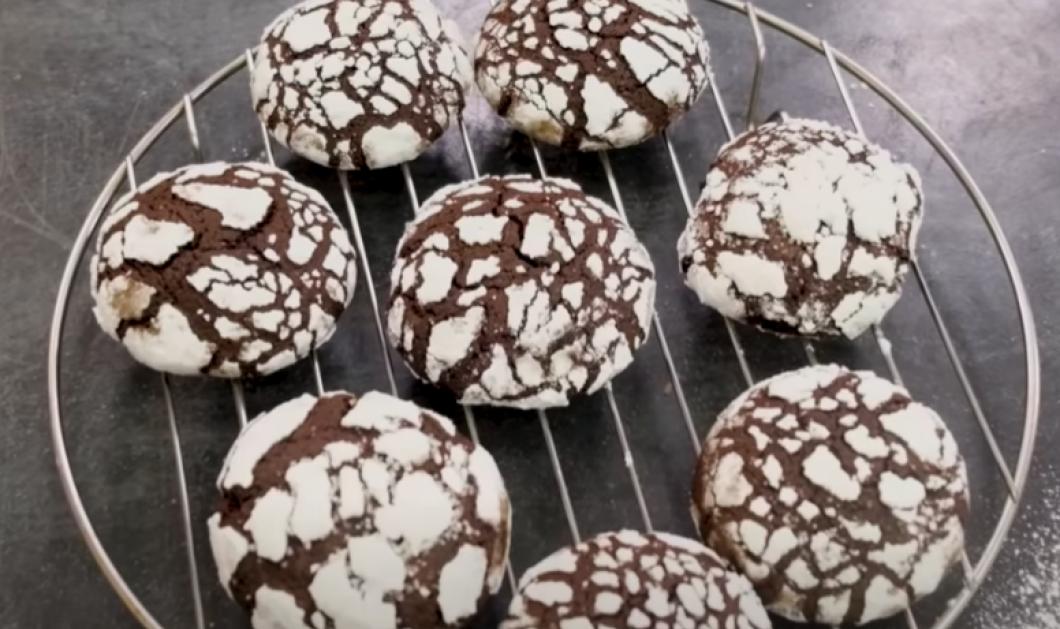 Μπισκότα Κρακελέ σοκολάτας από τα χεράκια της μοναδικής Αργυρώς Μπαρμπαρίγου - Θα τα λατρέψετε (βίντεο) - Κυρίως Φωτογραφία - Gallery - Video