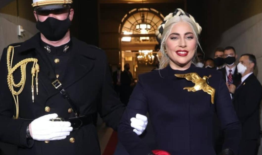 Η Lady Gaga μας δείχνει το τρυφερό φιλί με τον σύντροφό της από την ορκωμοσία του Μπάιντεν - Φορώντας τις μάσκες τους (φωτό) - Κυρίως Φωτογραφία - Gallery - Video